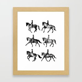 Dressage Horse Silhouettes Framed Art Print