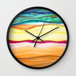 gradient stripes Wall Clock