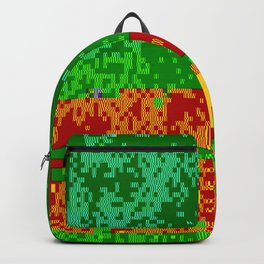 Dr Glitch Pattern Backpack
