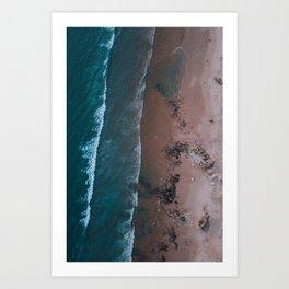 Beach Digital Print, Portugal Poster Art, Sea Waves Wall Art, Sand & Water Poster, Aerial Photograph Art Print