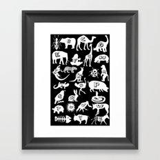 Animal A-Z Framed Art Print