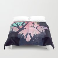 lovers Duvet Covers featuring Lovers by youcoucou