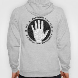 Me & Paranormal You - James Roper Design - Palmistry B&W (black lettering) Hoody