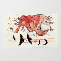 phoenix Area & Throw Rugs featuring Phoenix by Sah Matsui