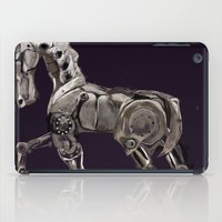 steam punk iPad Cases featuring Steam Punk Horse by tgronberg