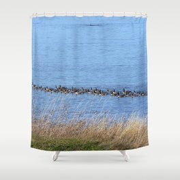 Canadian Goose Chase Shower Curtain