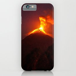 Volcano Eruption iPhone Case