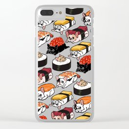 Sushi Frenchie Clear iPhone Case