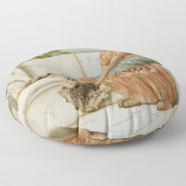 In the Days of Sappho by John William Godward (1904) Floor Pillow