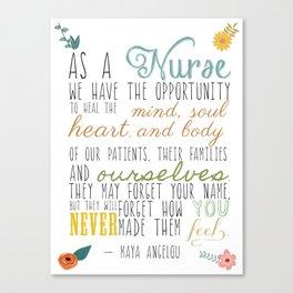 As a Nurse... Canvas Print