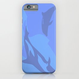 Dolphin Background iPhone Case
