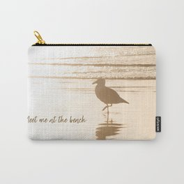 Meet Me at the Beach (typography) Carry-All Pouch