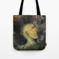 punk rock Tote Bags featuring Punk by Shellie Mix