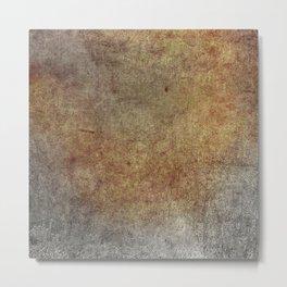 Abstract rusty orange grey Metal Print