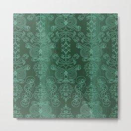 Elena, brunswick green ornate Metal Print