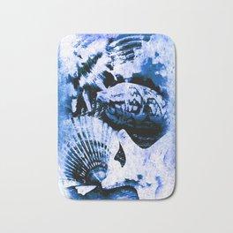 Marine Treasure, Blue Surf Bath Mat
