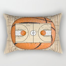 Basketball Court Team Sports Design Rectangular Pillow