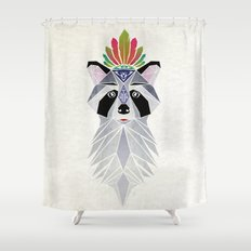 raccoon spirit Shower Curtain
