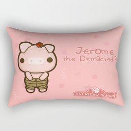 Jerome the Distracted Pig Rectangular Pillow