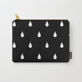 Black and white rain drops Carry-All Pouch