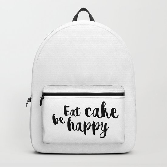 Eat cake be happy Backpack