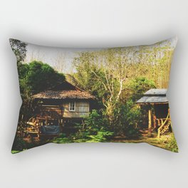 Little Houses in the Wood Rectangular Pillow