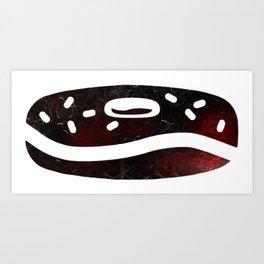 Halloween Donut Abstract Art Print