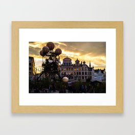 Steampunk Sunset Framed Art Print