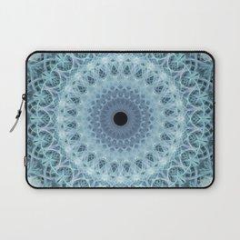 Mandala in cold winter tones Laptop Sleeve