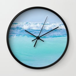 Kapukaulua Pure Blue Surf Wall Clock