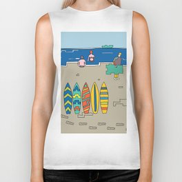 Afternoon at the beach (b) Biker Tank