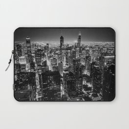 Chicago Skyline at Night Laptop Sleeve