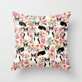 Welsh Corgi tri colored cardigan corgi dog breed must have corgi gifts for dog person pet friendly Throw Pillow