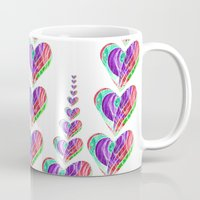 tetris Mugs featuring Love Tetris by Len Tierra