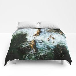 OCEAN - SEA - WATER - ROCKS - PHOTOGRAPHY Comforters