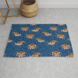 Tigers in the water Rug