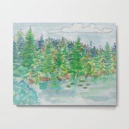 Watercolour - Lake, St. John's, Newfoundland 2 Metal Print