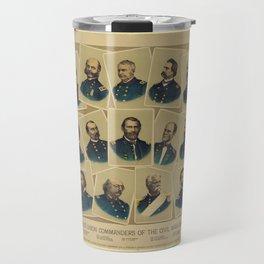 Famous Union Commanders of the Civil War 1861-65 Travel Mug