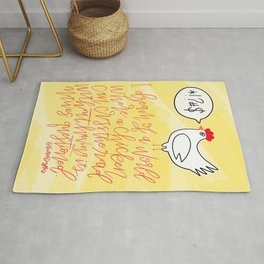 Chicken Cross the Road Rug