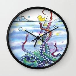 Bath Time Octopus Wall Clock