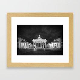 BERLIN Brandenburg Gate | Monochrome Framed Art Print