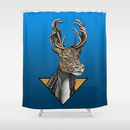 Caribou (Reindeer) Totem Shower Curtain