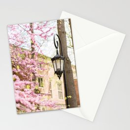 Purple Lampost Blooms Stationery Cards