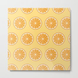 Oranges on yellow Metal Print