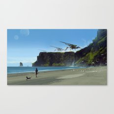new planet, old habits... Canvas Print