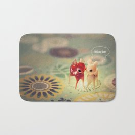 hello my deer Bath Mat