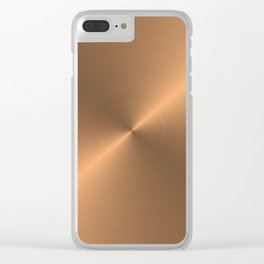 Circular metal brushed texture Clear iPhone Case