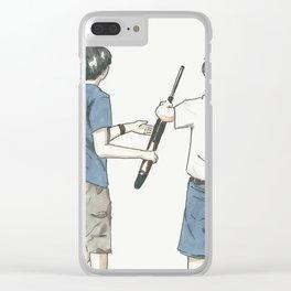 Pass The Gun Clear iPhone Case