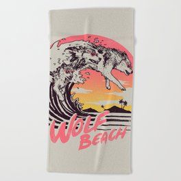 Wolf Beach Beach Towel