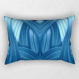 Abstraktion in blau Rectangular Pillow